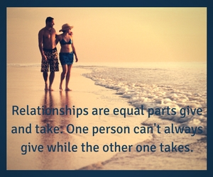 Relationships are equal parts