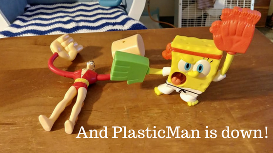 And PlasticMan is down!