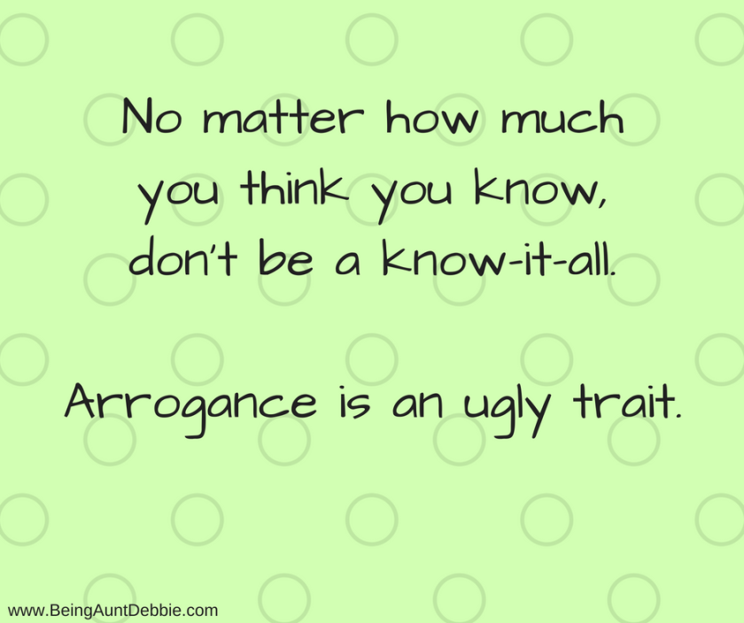 arrogance