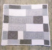 """Your First Breath Took Ours Away"" Baby Blanket"